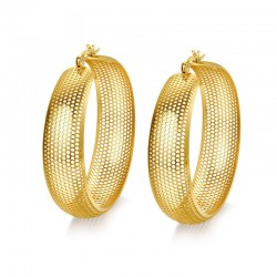 Hollow Out Large Hoops Earring