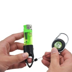 Lighter Holder Retractable Keychain