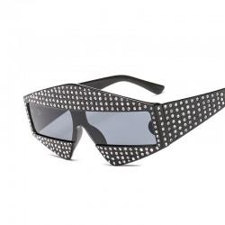 Strasssteine Rahmen Übergroß Sonnenbrille