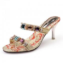 Sandales pour femme de talon haut avec strass