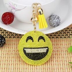 Crystal Emoji Expression Keychain Keyring