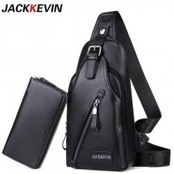 Men's Genuine Leather Crossbody Bag