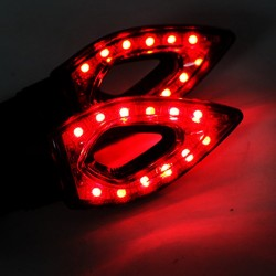 Indicateurs lumineux Waterproof Universal 12 LED 2pcs