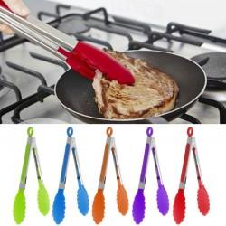 Pinces à cuisiner en acier inoxydable et silicone