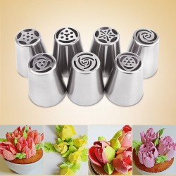 Tulip icing piping nozzles cake decoration 7 pcs