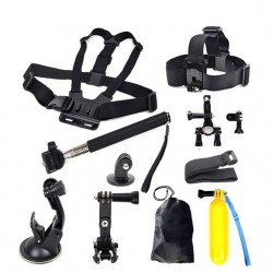 Set accessoires pour corps soutien pour tete et poitrine Xiaomi Yi pour GoPro Hero 5 4 3 + SJCAM SJ4000