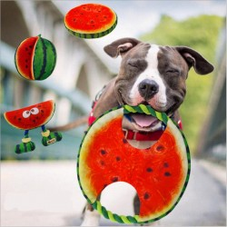 Pet dog frisbee canvas rope watermelon toy 19 cm