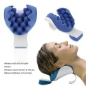 Travel neck shoulder therapeutic support pillow