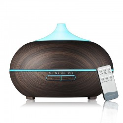 Wood grain 7 color changing LED aroma diffuser ultrasonic air humidifier 500 ml