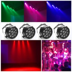 R-L-089 12x3W flat LED Par RGBW DMX512 Disco Lamp Stage Light Pojector Dmx Controller
