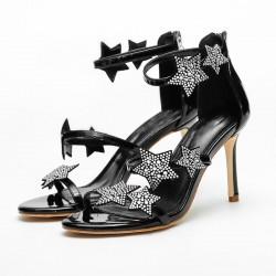 Sandales hautes avec cristals