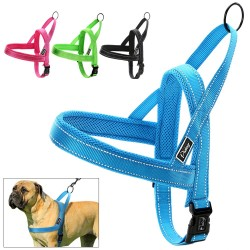 No pull quick fit reflective nylon dog harness vest