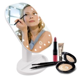 Miroir pliant pour maquillage LED