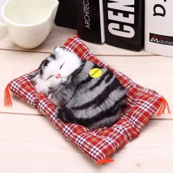 Animal de peluche chat avet son