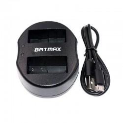 Dual USB battery charger for DMW-BLC12 DMWBLC12 BLC12 BLC12PP Panasonic Lumix FZ1000 FZ200 FZ300 G5