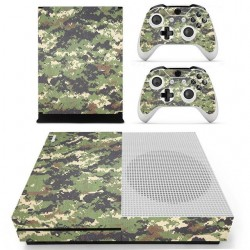 Adhesifs decoratifs camouflage pour Xbox One S Console