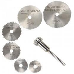 Circular saw blades & mandrel cutting discs drill 6 pcs
