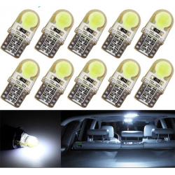 Ampoule voiture T10 W5W LED COB 10 pcs