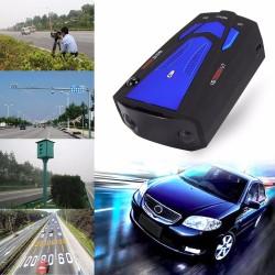 V7 16 LED-display auto anti-radar snelheid laser detector met stem waarschuwing