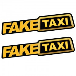 Fake Taxi reflective car sticker decal 2 pcs