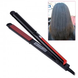 Temperature control electric hair straightener corrugated iron