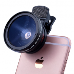 iPhone 6 Plus 5S 4S Samsung S6 S5 Note 4 HD super wide angle super macro camera lens kit