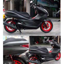 Motorfiets - scooter - mat zwarte vinyl wrap sticker