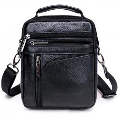New High Quality Men Business Handbag Genuine Leather Cowhide Retro Crossbody Single Shoulder Bag Ca