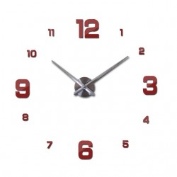 3D acrylic mirror wall clock sticker