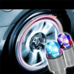 Lumières pour roues voiture vèlo LED neo bleu 2 pcs
