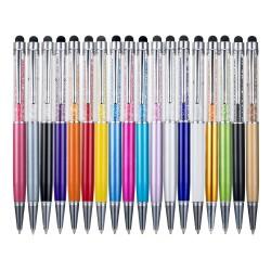 Metallic crystal pen diamond ball pen