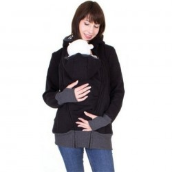 Kangaroo Pouch hoodie jacket baby carrier hooded