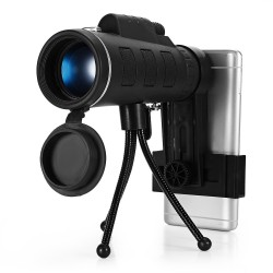 40 x 60 BAK4 HD Minimonocular Teleskop mit Kompass