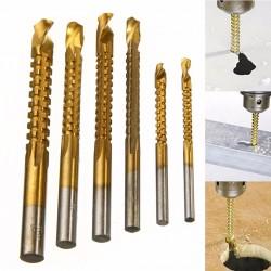 Pointes pour perceur titanium HSS 3 - 8mm 6 pcs