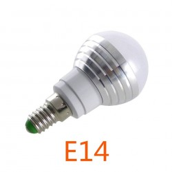 E14 E27 RGB LED Ampoule 3 W 16 Couleur Modifiable Lampe LED Spotlight 24 Touches IR Tlcommande A