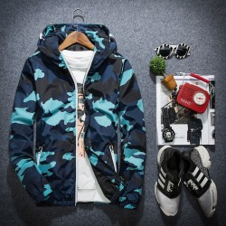 Camouflage hooded jacket windbreaker unisex
