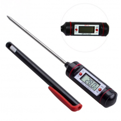 Digitales Lebensmittelthermometer - Edelstahl - zum Backen - Kochen - Fleisch