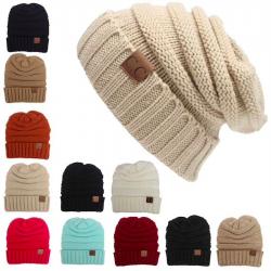 Winter knitted wool hat unisex