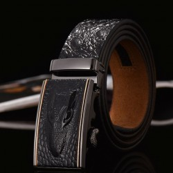 Genuine leather crocodile design belt