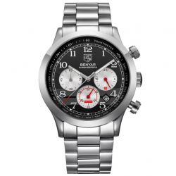 Stainless steel waterproof chronograph watch