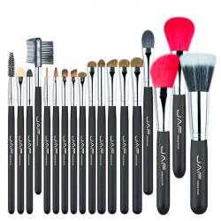Natural hair professional makeup brush set 18 pcs