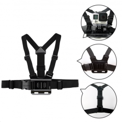 Gopro Hero 6 5 4 3 & Xiaomi Yi GP27 adjustable chest strap belt tripod harness mount