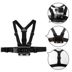 Gopro Hero 6 5 4 3 & Xiaomi Yi GP27 adjustable chest strap belt tripod harness mount