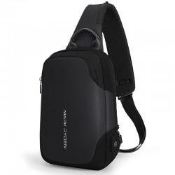 9.7 inch IPad water repellent shoulder crossbody chest bag