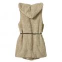 Winter fur hooded vest