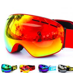 UV400 anti-fog double layer ski snowboard goggles
