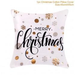Weihnachtskissenbezug Kissenbezug Baumwolle 45 * 45 cm
