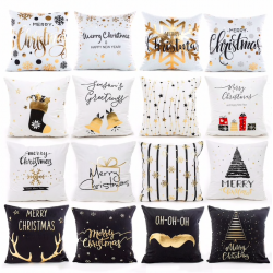 Christmas pillowcase cushion cover cotton 45 * 45 cm