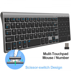 Kabellose Mini-Tastatur mit Touchpad - Air Mouse Android Box - Windows PC