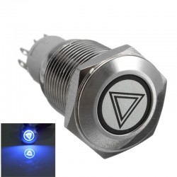 Car 16mm LED illuminated self-locking waterproof push button switch stainless steel